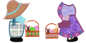Exclusive April Sunbonnet Sam & Sue