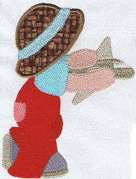 Sunbonnet Sam Exclusive Applique Set