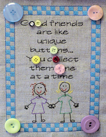 Friends Are Like Buttons Sampler