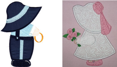 Exclusive June Sunbonnet Sam & Sue