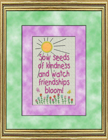 Friends- Love- Peace Sampler 4- Piece Set