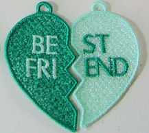 Best Friends FSL Split Heart Set