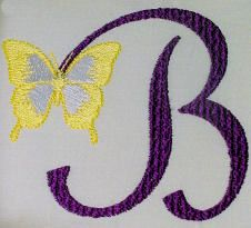 Butterfly French Script Monogram
