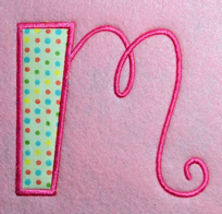 Curly Q- 5x7 Applique Alphabet