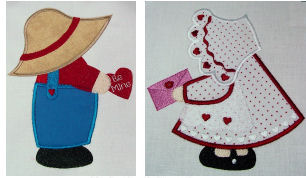 Exclusive February Sunbonnet Sam & Sue