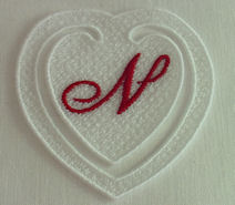 FSL Monogram Heart Bookmark