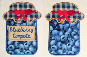 Grandma's Canning Jars Applique Set 02