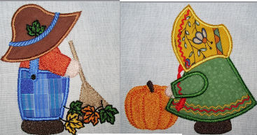 Exclusive October Sunbonnet Sam & Sue