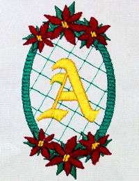 Poinsettia-n-Lace Monogram