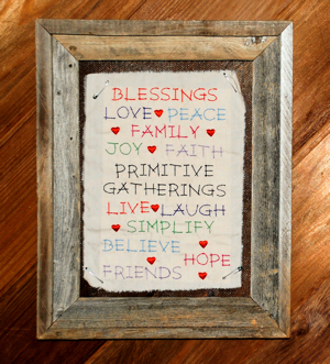 Prim Sentiment Stitcheries