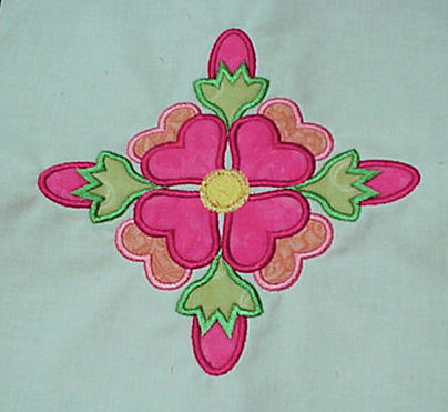 Rose of Sharon Applique Quilt Blocks