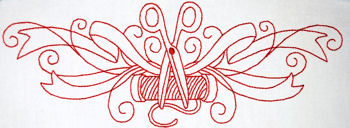 Redwork Embroidery Borders