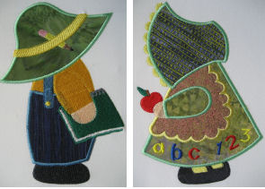 Exclusive September Sunbonnet Sam & Sue