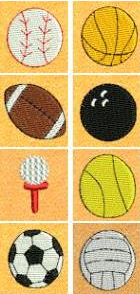 Mini Sports Balls & Applique Set