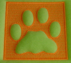 Embossed Dog Paw