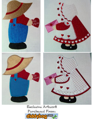 Exclusive Sunbonnet Sam & Sue- February