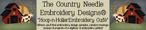 Check out the Hoop & Holler Embroidery Café for Projects • Recipes & More!
