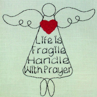 Handle with Prayer Angel