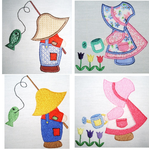 Exclusive Sunbonnet Sam & Sue- May