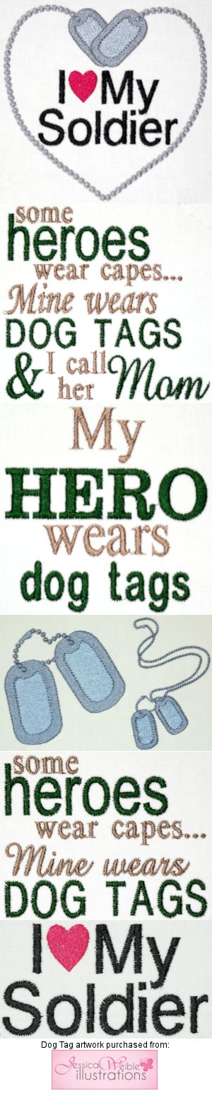 My Hero Wears Dog Tags (Mom)