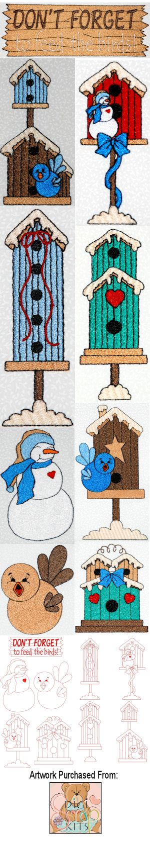 Winter Birdhouses 01